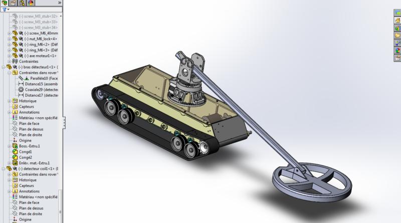 rover +arm +coil